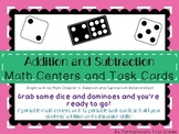 Addition and Subtraction Math Centers- Aligns with Go Math G1 Ch5