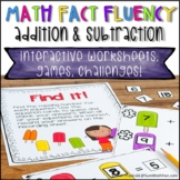 Addition and Subtraction Fact Fluency Activities - First