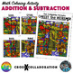Addition and Subtraction Math Colouring Activity: Set B (Cross)