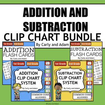Addition and Subtraction Math Fact Fluency Bundle with Flash Cards