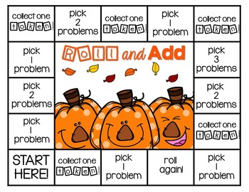 Addition and Subtraction Math Fact Fluency Game {Fall Edition}
