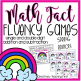 Addition and Subtraction Math Fact Fluency Games {Spring Edition}