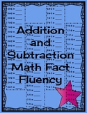 Addition and Subtraction Math Fact Fluency Quizzes and More