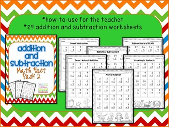 Addition and Subtraction Math Fact Pack 2