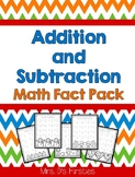 Addition and Subtraction Math Fact Pack {holidays, Common Core}