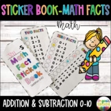 Addition and Subtraction Math Fact Sticker Book and Flash Cards