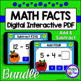 Addition and Subtraction Math Facts: Digital Task Cards BU