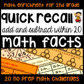 Addition & Subtraction Math Facts - 20... by Juniper's Own ...