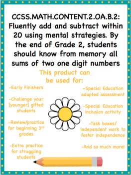 Addition and Subtraction Math Facts Task Boxes