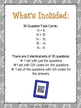 Addition and Subtraction Math Facts Task Cards