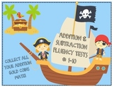 Math Fluency Tests (Addition and Subtraction / Numbers 1-10)