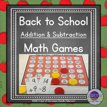Back to School Math Games for Addition and Subtraction
