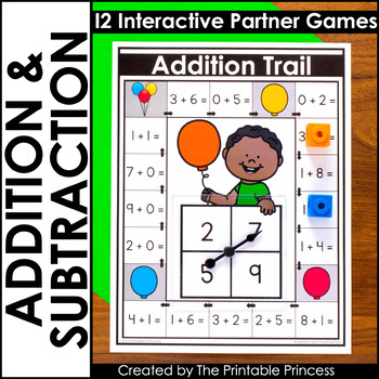 picture relating to Kindergarten Math Games Printable identified as Addition and Subtraction Math Online games for Kindergarten