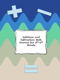 Addition and Subtraction Math Journal