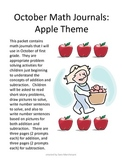 Addition and Subtraction Math Journals - Apple Theme
