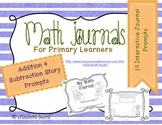 Addition and Subtraction Math Journals for Kindergarten and First Grade