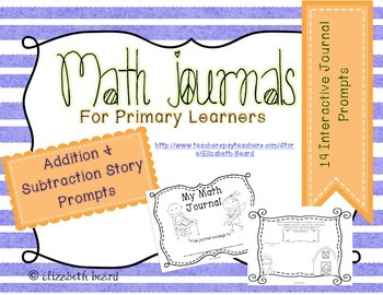 Addition and Subtraction Math Journals for Kindergarten an