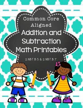 Addition and Subtraction Math Printables- Common Core Aligned