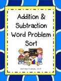 Addition and Subtraction Math Word Problem Sort