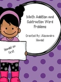 Addition and Subtraction Math Word Problems