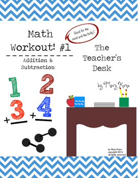 Addition and Subtraction Math Workout!: Lower Elementary