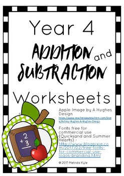 Addition and Subtraction Math Worksheets