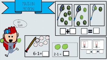 Addition and Subtraction Math Workstations Sports Theme