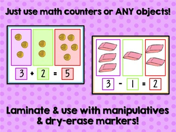Addition and Subtraction Dry-Erase Mats