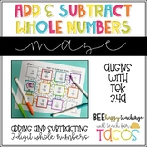 Addition and Subtraction Maze 3.4A