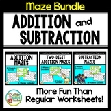 Addition and Subtraction Mazes BUNDLE