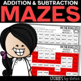 Addition and Subtraction Mazes   Printable and Digital