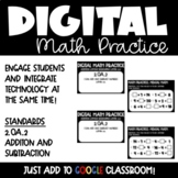 Addition and Subtraction Mental Math Digital Math Practice