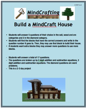 Addition and Subtraction MindCrafting
