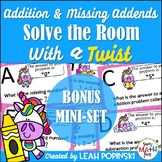Addition and Subtraction - 1st Grade - Solve the Room with a TWIST