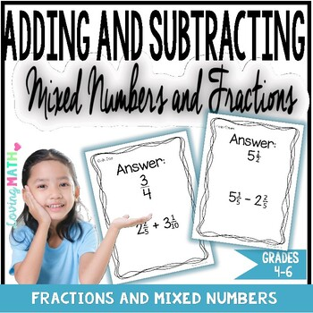 Mixed Numbers Addition and Subtraction Game