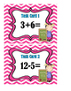 Addition and Subtraction Mixed Problems:  Answers 2 to 12 - Task Cards