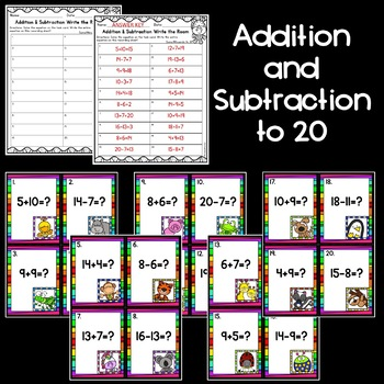 Mixed Addition and Subtraction: Write the Room [[2 sets!]]