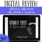 Addition and Subtraction Models and Equations Review Game Stinky Feet