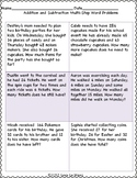 Adding and Subtracting Multi-Step Word Problems Sheet 2