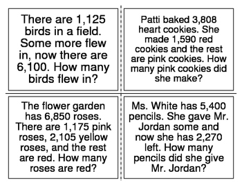 Addition and Subtraction Multi-step Word Problems