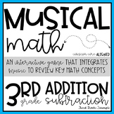 Addition and Subtraction Musical Math 3rd Grade