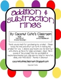Addition and Subtraction Mystery  Picture Rings {A Fun Math Center}