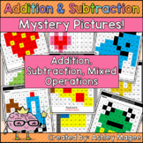 Addition and Subtraction Mystery Pictures
