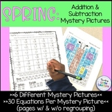 Addition and Subtraction Mystery Pictures | Spring