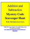 Math Operations Scavenger Hunt