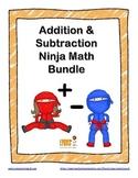 Addition and Subtraction Ninja Math BUNDLE!  Fact Fluency