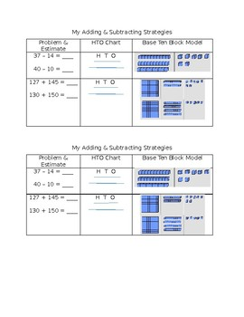 Addition and Subtraction Notes
