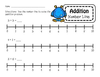 Addition and Subtraction Number Line Problems
