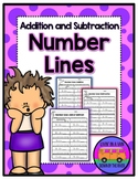 Addition and Subtraction Number Lines - 15 pages included!