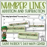 Addition and Subtraction Number Lines St Patrick's Day Themed